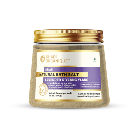 KHADI ORGANIQUE LAVENDER & YLANG YLANG NATURAL BATH SALT