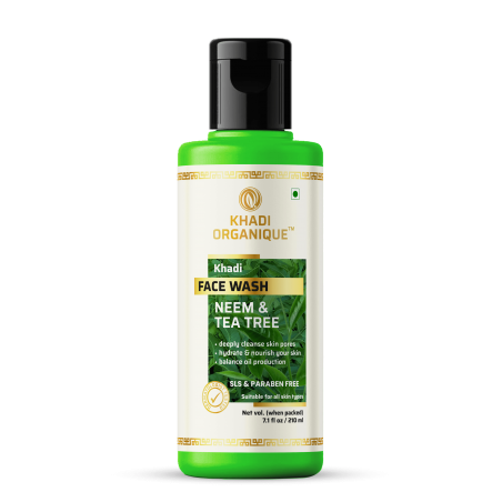 Khadi Organique Neem & Tea Tree Face Wash