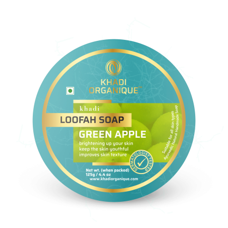 Khadi Organique Green Apple Loofah Soap