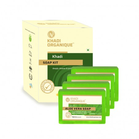 Khadi Organique Pure Natural & Handmade Aloe Vera Soap Combo kit