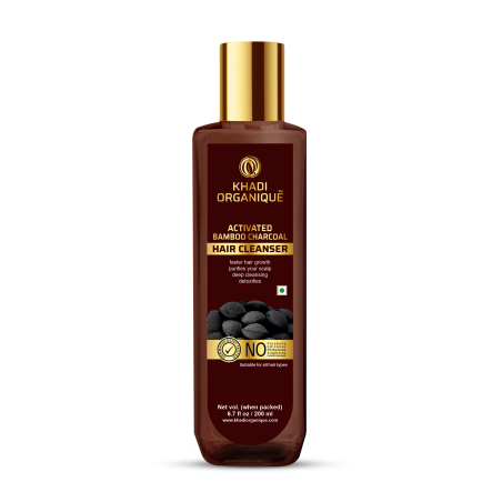 Khadi Organique Activated Bamboo Charcoal Hair Cleanser