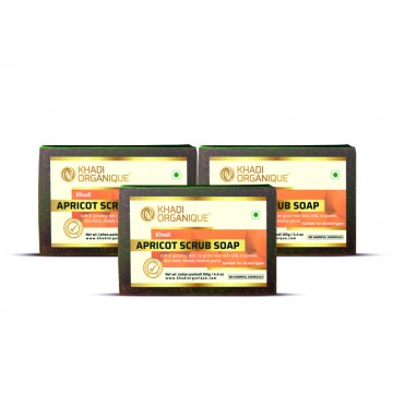 Apricot Scrub Soap (Pack Of 3)