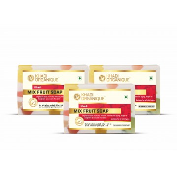 Mix Fruit Soap (Pack Of 3)