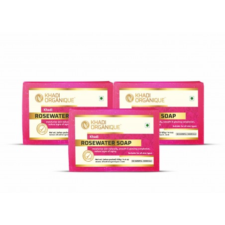 Rosewater Soap (Pack Of 3)