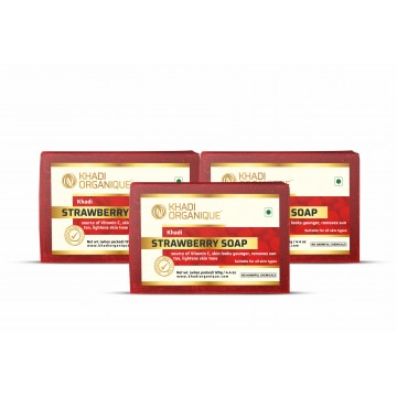 Strawberry Soap (Pack Of 3)