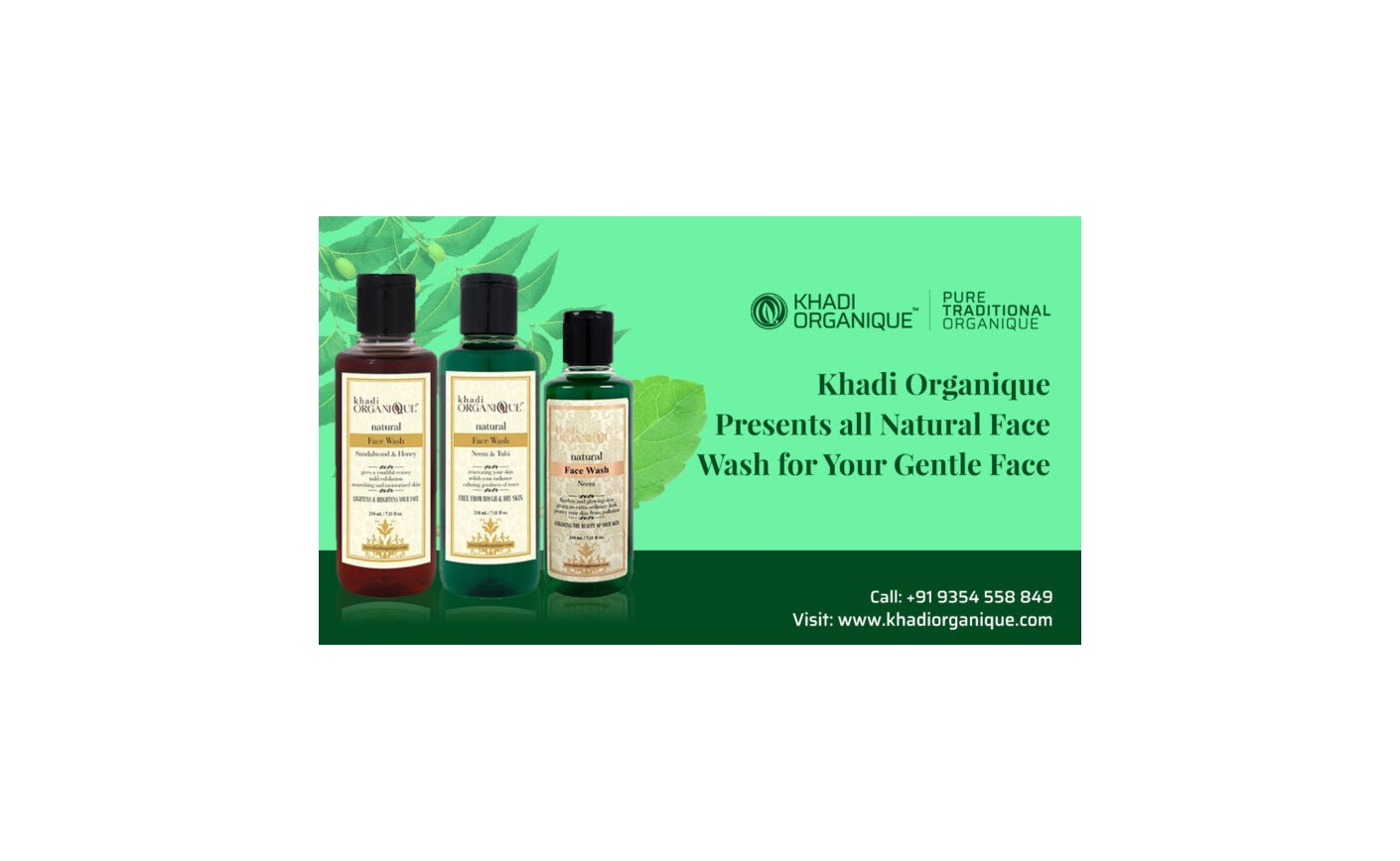 Khadi Organique Presents all Natural Face Wash for Your Gentle Face